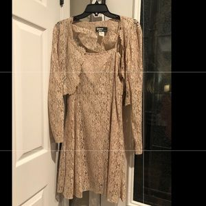 Dresses & Skirts - Beige colored formal dress with shawl